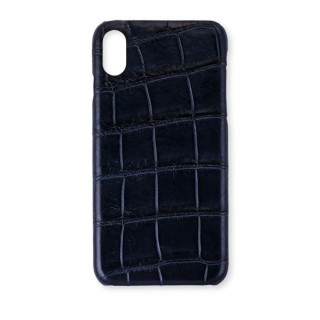Coque Alligator Véritable iPhone XR Bleu Marine