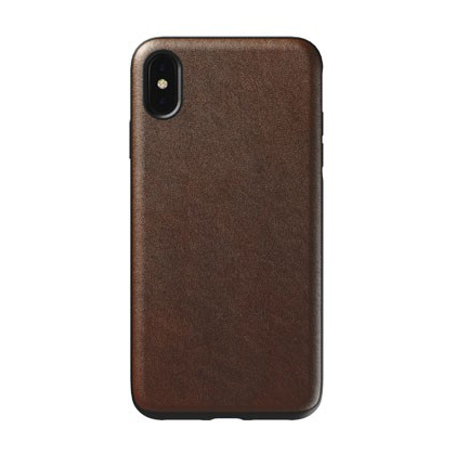 coque iphone xr cuire marron