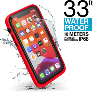 Coque 100% Etanche iPhone 11 Pro Catalyst Rouge