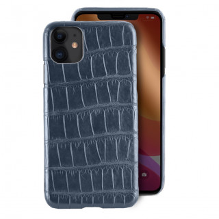 Coque Alligator Véritable iPhone 11 Bleu Jean