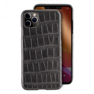 Coque Alligator Véritable iPhone 11 Pro Gris