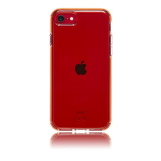 Coque Apple iPhone SE (2020)/8/7/6 Hybrid Neon QDOS Rouge