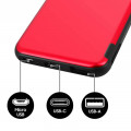 Batterie Secours Smartphone & Tablette 5000mAh Akashi Rouge