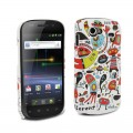 "Coque Doodle Samsung Nexus S ""Monstre"" + protection écran"