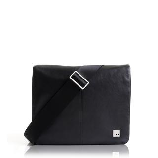 "Sacoche Cuir MacBook Air 11"" Knomo Kilkenny Noir"