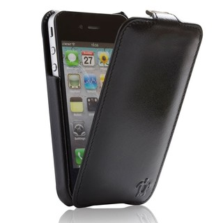 "Etui Rabat Apple iPhone 4/4S Issentiel ""Prestige"" Ultra mince Ebène"