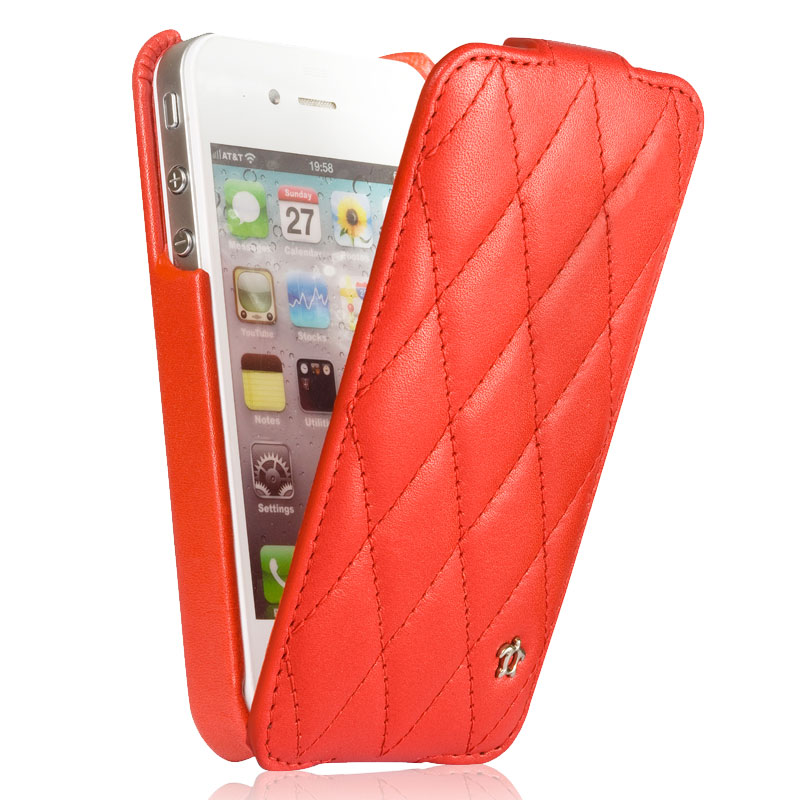 issentiel etui cuir apple iphone 5 5s se issentiel prestige cosy rouge is53612 accessoires. Black Bedroom Furniture Sets. Home Design Ideas
