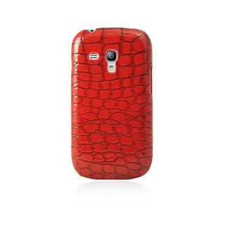 "Coque Samsung Galaxy S3 Mini ""Croco"" Rouge Brillant"