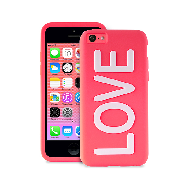 puro coque apple iphone 5c night cover love rose puro ipcclovepnk accessoires t l phonie. Black Bedroom Furniture Sets. Home Design Ideas