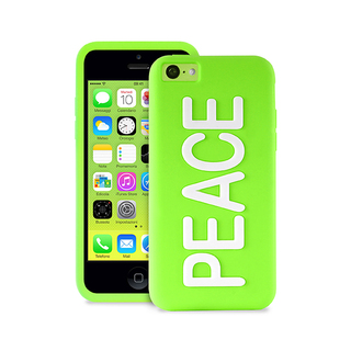 "Coque Apple iPhone 5C Night Cover ""PEACE"" Verte Puro"