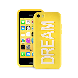"Coque Apple iPhone 5C Night Cover ""DREAM"" Jaune Puro"