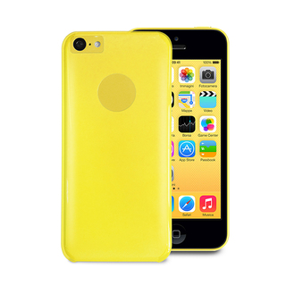 "Coque Apple iPhone 5C ""Crystal"" Jaune Puro"