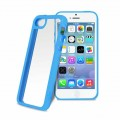 "Coque Bumper Apple iPhone 5C Bleue ""Clear Cover"" Puro"