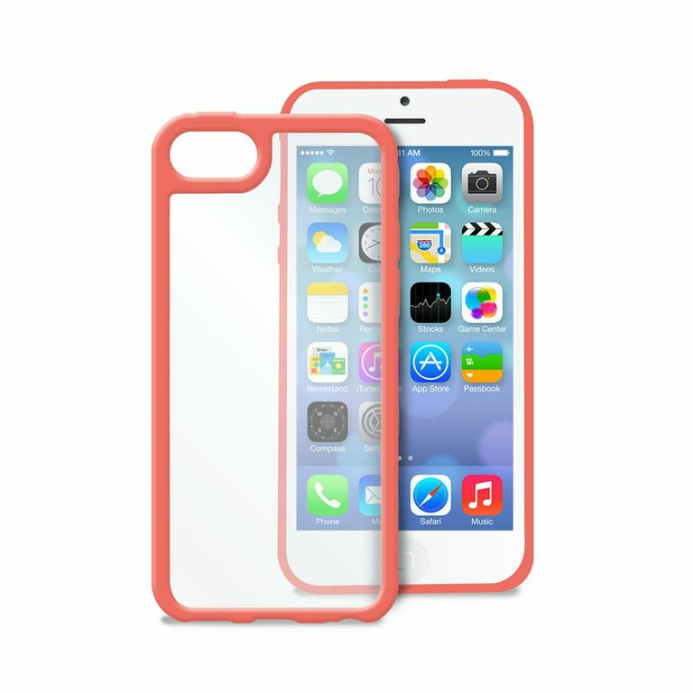 puro coque bumper apple iphone 5c rose clear cover puro ipccclearpnk accessoires. Black Bedroom Furniture Sets. Home Design Ideas