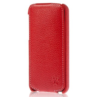 "Etui Rabat Apple iPhone 5C Issentiel ""Prestige"" Ultra mince Rouge Grainé"