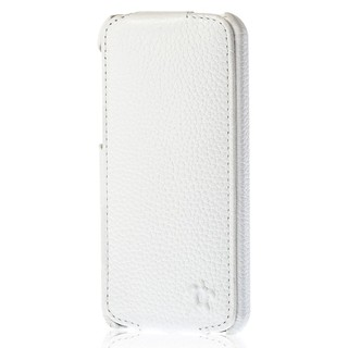 "Etui Rabat Apple iPhone 5C Issentiel ""Prestige"" Ultra mince Blanc Grainé"