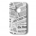 "Coque Akashi Apple iPhone 4 / 4S ""New York Newspapers"" + protection écran"