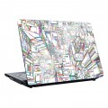 "Sticker Coovz de personnalisation pour Notebook 15"" ""Buildings"""