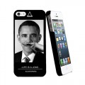 "Coque Apple iPhone 5/5S Eleven Paris ""Obama Moustache"""
